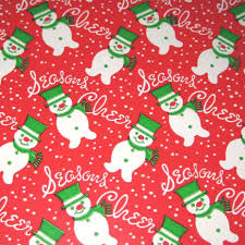 green christmas wrapping paper vintage christmas wrapping paper or gift wrap with