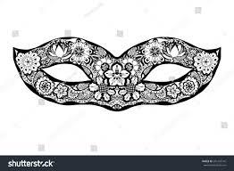 ornamental mask vector stock vector 291243716