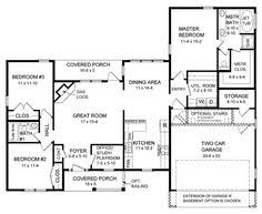 1500 Sq Ft Ranch House Plans Traditional Style House Plans 1330 Square Foot Home 1 Story 3