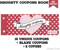 Halloween Candy Printable Coupons by Naughty Coupon Book 16 Printable Coupons For Boyfriend