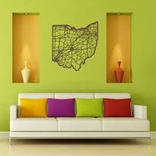 ohio map wooden wall by cut maps rosenberryrooms