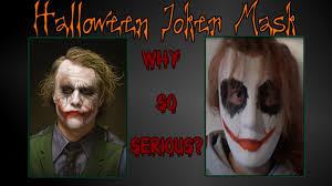 heath ledger joker mask halloween diy youtube