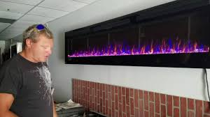 napoleon allure 100 inch electric fireplace youtube