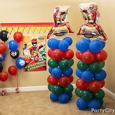 Balloon Decor Ideas Birthdays Power Rangers Balloon Tower Diy Decorating Ideas Power Rangers