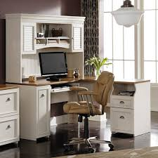 White Computer Desk With Hutch Antique White Desk With Hutch Bush Fairview L Shaped Computer Desk