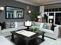 White Leather Sofa Living Room Ideas by Amusing Living Room With White Curtain And Grey Wall Color Also L