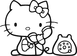 6 original coloring pages hello kitty ngbasic com