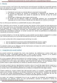 chambre syndicale des syndics de copropriété règlement de fonctionnement du conseil syndical de la copropriété