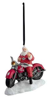 davidson 2017 biker santa led hanging ornament painted