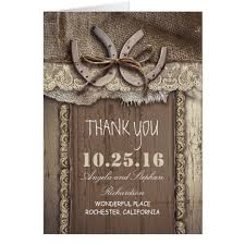 horseshoe western wedding thank you cards zazzle