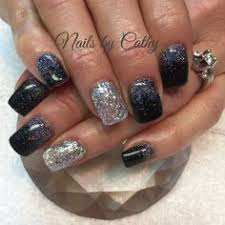 sparkle fade nails by cathy heine at curl up and dye salon