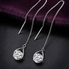 color crystal necklace images Fashion gold and silver color crystal water drop earrings for jpeg