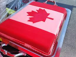 no canada day is complete without a flag cake canada day in