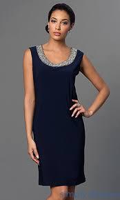 navy blue sleeveless handkerchief dress