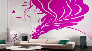 creative wall painting ideas for living room youtube