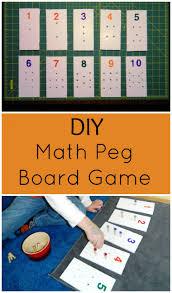 diy indoor games diy math peg board game child led life