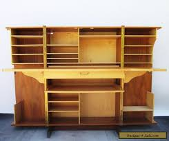brass key secretary desk vintage danish modern teak wood folding cube locking desk with keys