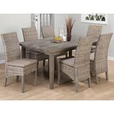 jofran 856 871 coastal kubu rattan dining side chair with oatmeal