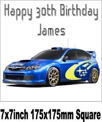 subaru rally car subaru rally car image cake topper rice paper choices