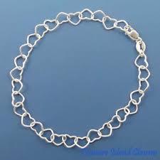 solid sterling silver charm bracelet images 7 quot multi heart link chain 925 solid sterling silver charm bracelet jpg