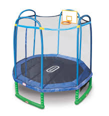 little tikes 10 foot sports trampoline with enclosure and