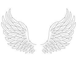 simple angel wings drawing how to draw angel wings in simple steps