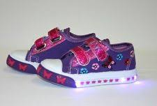 size 5 light up shoes baby girls purple light up shoes size 5 double glitter strap