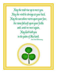 blessing card real shamrock blessing greeting card