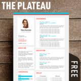 modern resume template free the plateau modern resume template