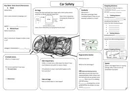 Car Worksheet Car Safety Summary Sheet By Paulat77 Teaching Resources Tes