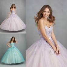 vestidos de quinceanera free shipping embroidery lavender light purple turquoise blue
