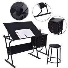 White Art Desk Drawing Desk Ebay