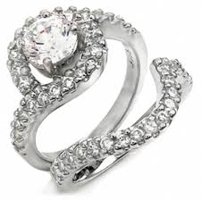 black cubic zirconia engagement rings sherilynn s swirling cubic zirconia engagement ring set