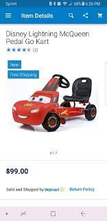lighting mcqueen pedal car lightning mcqueen pedal go kart new in box games toys in