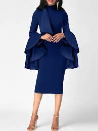long sleeve plaid double layered women u0027s pencil dress tbdress com