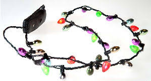 flashing christmas light necklace led christmas light necklace christmas decor inspirations