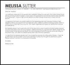 sample cover letter for a government job livecareer