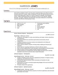 software engineer resume software engineer cv exle for engineering livecareer