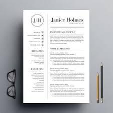 ashlee resume cv cover letter template 3 page design word
