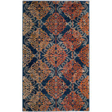 navy the new neutral how to decorate ballard designs style evoke blue orange 3 ft x 5 ft area rug