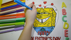 spongebob squarepants coloring pages for kids learning colors