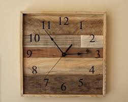 Reclaimed Wood Home Decor Pallet Wall Clock Rustic Home Decor Reclaimed Wood Rustic
