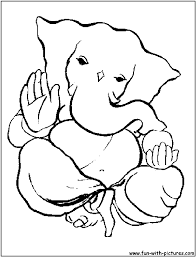 lord ganesh colour clipart 33
