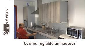 cuisine handicap cuisine handicap réglable en hauteur comment ça marche
