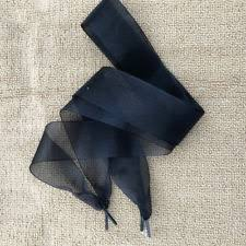 ribbon shoelaces black ribbon shoe laces ebay