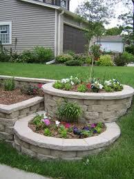 Tiered Backyard Landscaping Ideas Backyard Landscaping Design Ideas Tiered Landscape Patio Blocks