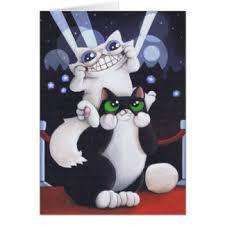 funny cat birthday greeting cards zazzle co nz