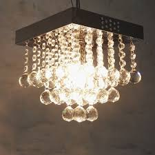 Light Bulb Chandeliers Fashion Square K9 E14 Led Bulb Chandelier L Home Deco