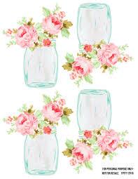 free mason jar floral tags pretty free pretty things for you