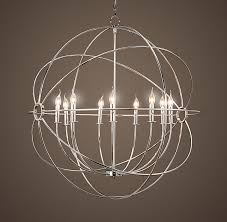 Iron Orb Chandelier Alternate Entryway Light We Can Discuss Scale Size